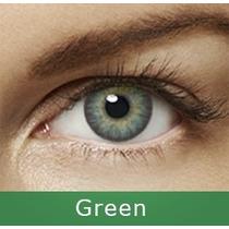 Freshlook Lentes De Contato Verde Green 1ano+brinde + Estojo