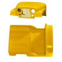 Carroceria Amarela Fibra Jeep Willys 55 À 83 Cj5 Sem Quadro