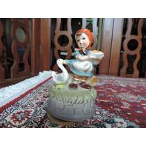 Caixa De Música Japonesa, Menina E O Pato. #3942