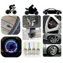 Kit 4 Bicos Neon Led Pneu Roda Bike Carro Moto Bicicleta+bri
