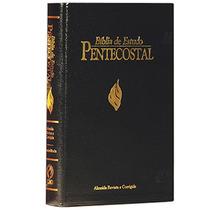 Bíblia De Estudo Pentecostal Preta Luxo Pequena