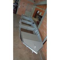 Casco Barco De Aluminio Way 600 Semi Chato