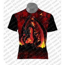 Camiseta Dragão - Rock - Metal