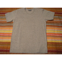 Blusa Basica Camisa Camiseta Menino Cinza Tam. 10 Anos