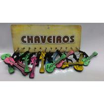 Chaveiro Emborrachado Guitarra Evangélico Com 12 Peças