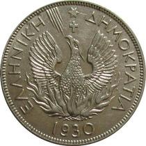 Grécia - 5 Dracmai 1930 (fênix)
