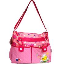 Bolsa Sacola Maternidade Tip Top Rosa Com Trocador Bebê Alça