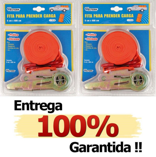Kit Com 2 Cintas Para Amarra��o Cargas C/ Catraca At� 300kg