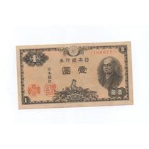 Cédula Do Japão - 1 Yen - Ano 1946 - Frete Grátis