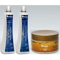 Kit Progress Shampoo E Condicionador Máscara Sos 250g Midori