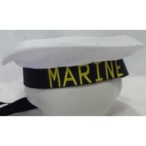 Fantasia Festas Chapéu Quepe Marujo Marinheiro Marine Pt!!