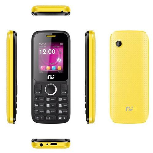 Celular Riu 1, Desbloqueado Preto E Amarelo, 2 Chips, Radio