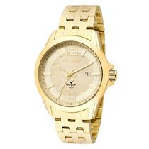 Relógio Technos Masculino Classic Golf Dourado 2115klv/4x