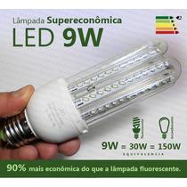 Kit 10 Lâmpada Led 9w Super Econômica Branca 6000k E27 Bivol