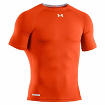 Camiseta Under Armour Compressão Masculina Heatgear Laranja