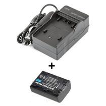 Kit Bateria Np-fh50 + Carregador P/ Sony Dsc-hx1 A230 A330