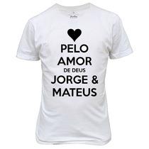 Camiseta Ou Baby Look Jorge E Mateus Personalizada