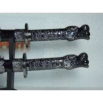 Espada Ninja Samurai Katana C/ Suporte Cabeça De Aguia