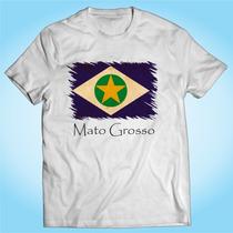 Camisa Mato Grosso - Bandeira - Brasil - Personalizada