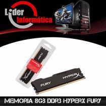 Memoria De 8gb Ddr3 Kingston 1600ghz Hyperx Fury Promoção!!!