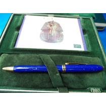 Caneta Lapis Lazuli Esfero Original Cross Raridade