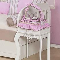Cesta 3 Potes Para Quarto De Bebê Menina Coleção Vasinho
