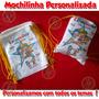 Kit 10 Mochilinhas Eco Bag Sacola Tecido Patati Patatá