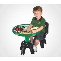 Mesa Com Cadeira Infantil Ben 10 Original Lider