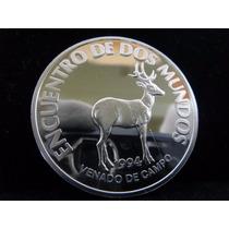 27 G Prata 925 Proof Moeda 200 Pesos Uruguai 1994 Doismundos
