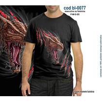 Camisetas Personalizadas , Estampa Digital Dragão 3d