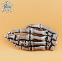 Fivela De Cinto Skull Hand Caveira Esqueleto Rock Moto Carro
