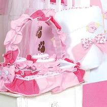 Cesta 3 Potes Para Quarto De Bebê Menina Coleção Mamãe Ursa
