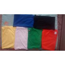 Camiseta Lisa P/m/g/gg Colorida 100% Algodão Penteado Fio 30