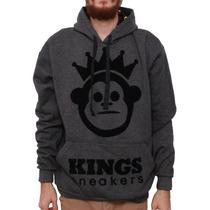 Blusa Moleton Kings Sneakers Canguru Imperdível