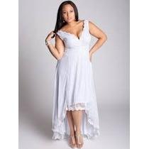 Vestido De Noiva Mullet Plus Size Renda Chantilly Sob Medida
