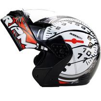 Capacete Moto Mixs Gladiator Rpm Velocimetro Robocop Novo