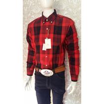 Camisa Xadrez Masculina Mangas Longas 100% Algodão