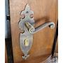 Fechadura Rústica Dourado Lafonte Externa Bronze Latão