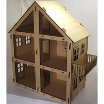 2550 Casa Boneca Desmontável Encaixe 75cm Mdf