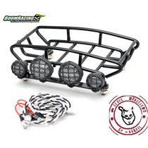 Rack De Teto C/ 4 Leds Metal 81x112x22 Boom Racing Crawler