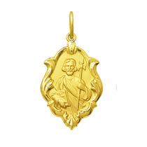 Medalha São Judas Tadeu Em Ouro 18k 2,5 Cm Com Certificado
