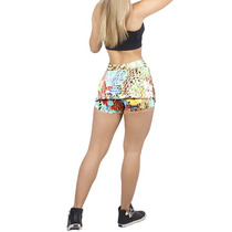 Shorts Saia Liz Tecido Bolha Estampado.