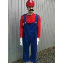 Fantasia Super Mario Completa Chapéu Festas Halloween Homem