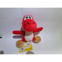 Pelúcia Yoshi Vermelho - Mario Nintendo - 12 Cm
