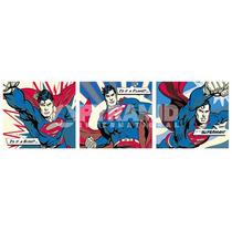 Superman Poster - Comic Desenhos Animados Tv Pop Art Triptyc