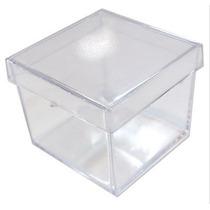 50 Caixinha De Acrilico 5x5 Transparente Frete Imperdivel