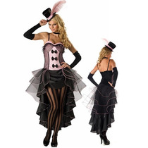 Fantasia Adulto Feminina Cabaret Cancan Dançarina Burlesque