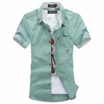 Camisa Manga Curta Casual Estio Hawai Havaiano Jack Johnson