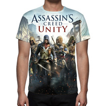 Camisa, Camiseta Assassins Creed Unity - Estampa Total