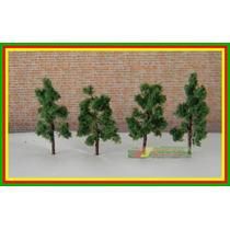 50 Arvores Verdes P/ Maquete Ho 1:87 3,8 Cm Alt Metal Espuma